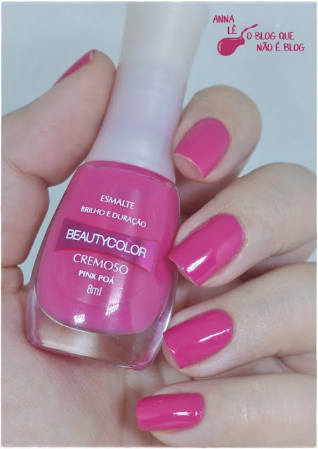 Esmalte Nailpolish Rosa Pink Poá Outubro