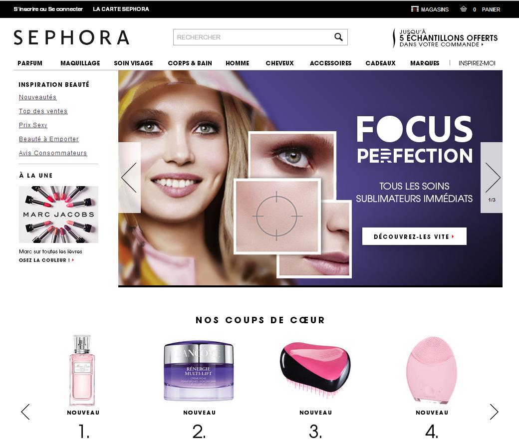 Acquistare su sullo store on line francese Sephora.fr dall'Italia