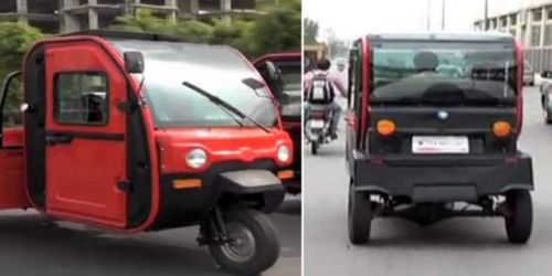 Electric-Powered Rickshaws With Air-Conditioning System On Lahore Roads