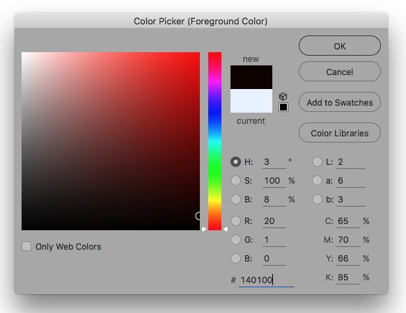 Photoshop Colour Palette