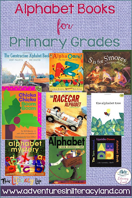 Alphabet books for primary students are fun to read with stories and letters working together.
