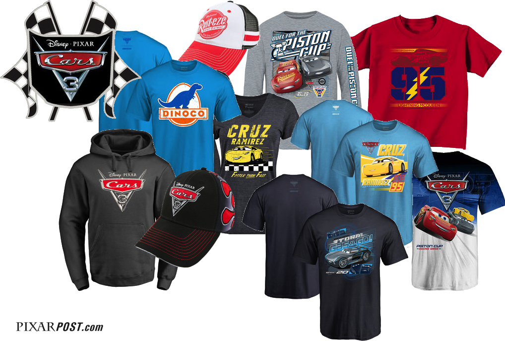 bbc02479 Expansive 'Cars 3' Apparel & Collector's Merchandise Now Available ...