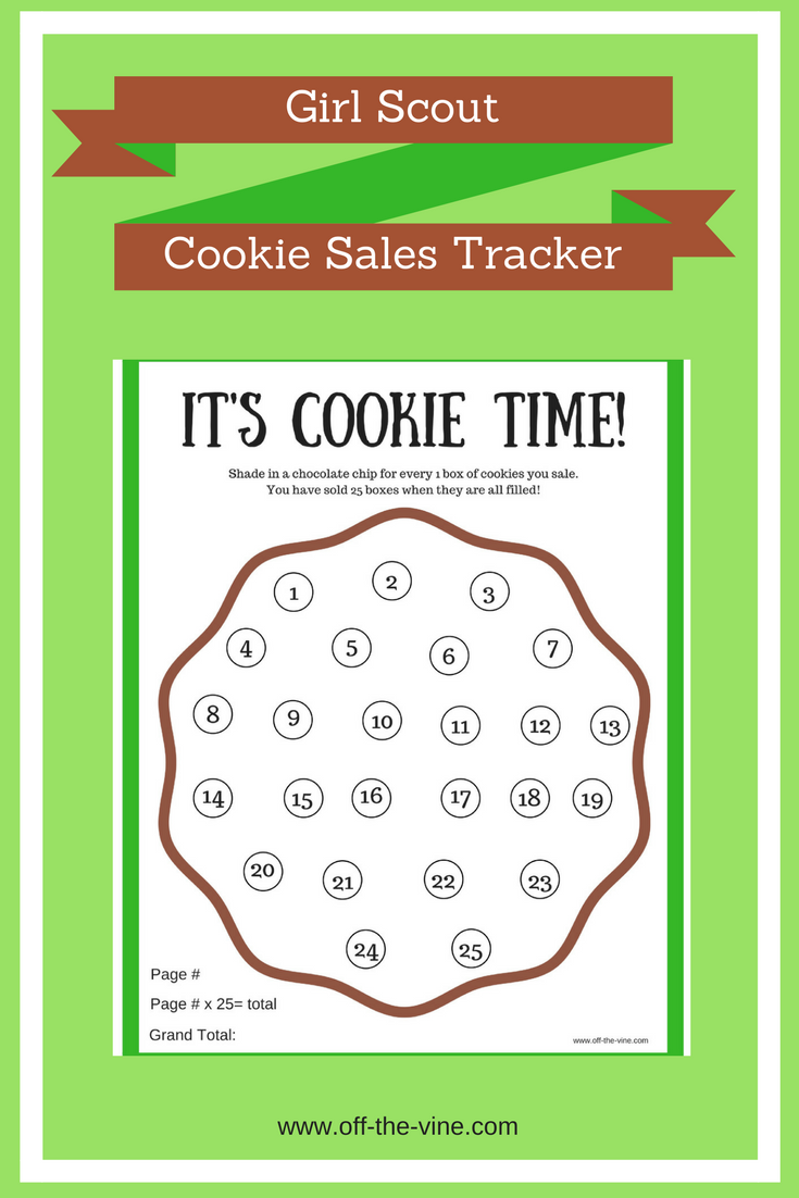 Printable Girl Scout Cookie Sales Tracker Off The Vine