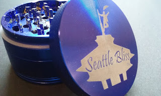 The Seattle Bliss (TM) laser engraved herb grinder