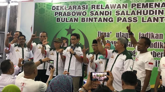 Sejumlah Kader PBB Deklarasikan Diri Dukung Prabowo-Sandi