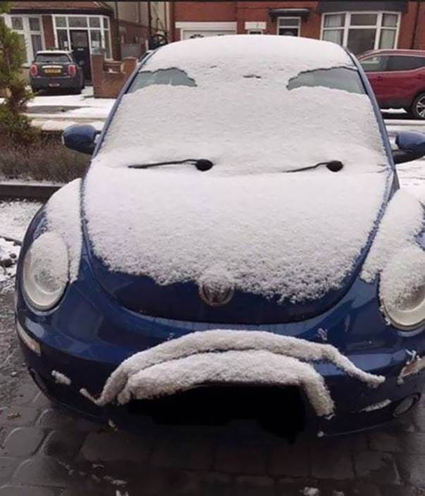 """This car strongly disapproves of someone"""