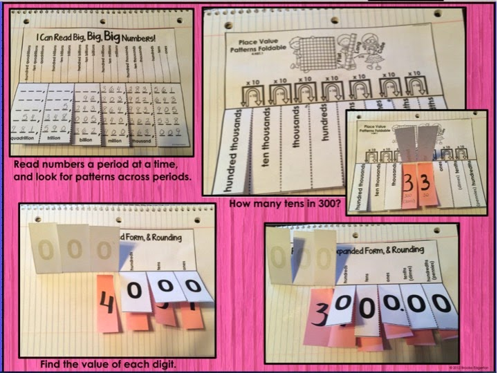 Tales From A Fourth Grade Mathnut Place Value Foldables
