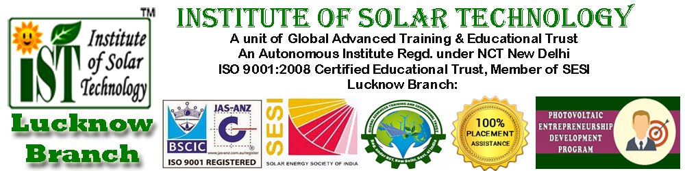 PV installers, PV technical training for entrepreneur, professional, electricians at IST Lucknow