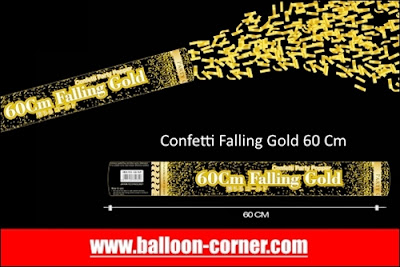 Party Popper Falling Gold / Confetti Falling Gold Ukuran 60 Cm