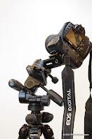 Canon EOS400D on Benro PC-1 + Benro HD-38 + DIY Nodal botoom back view