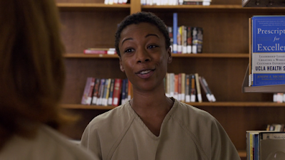 Orange is the new black season 4 Netflix poussey library