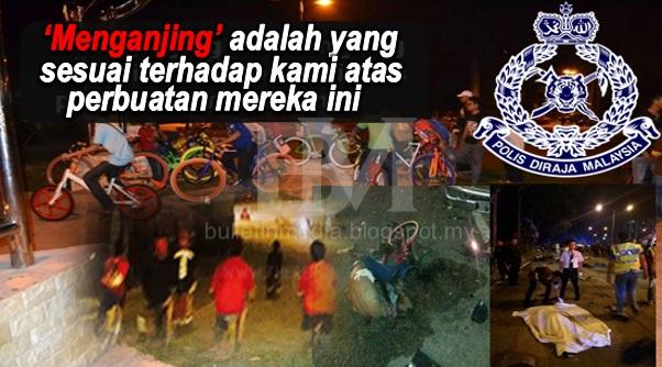 Kemalangan Kumpulan Remaja Basikal..Polis Dedah Pengalaman Berhadapan Remaja² Tersebut !!!