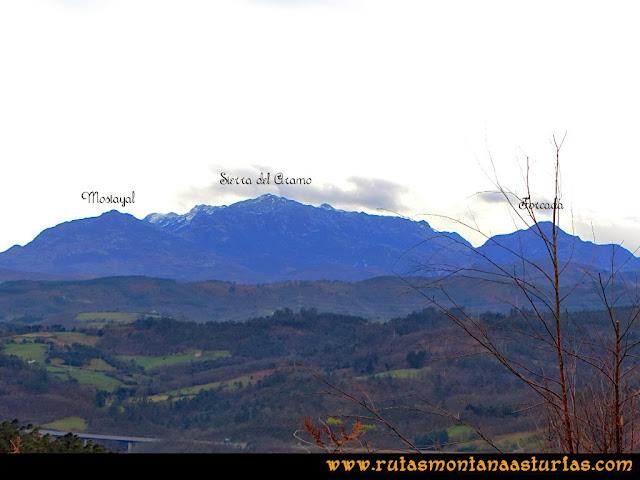 Rutas Montaña Asturias: Vistas de la Mostayal, Aramo y la Forcada desde Peña Escrita