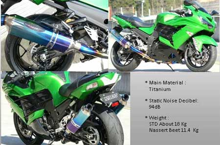 Muffler Nassert Beat Kawasaki Ninja ZX-14R