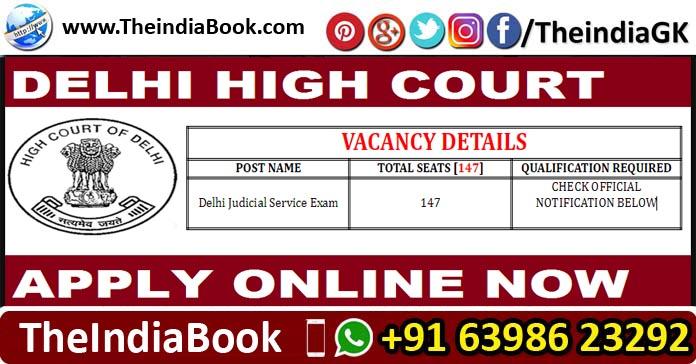 Delhi High Court Recruitment 50 Delhi Judicial Service Exam Posts 2018