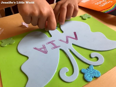 Child crafting with Bostik materials