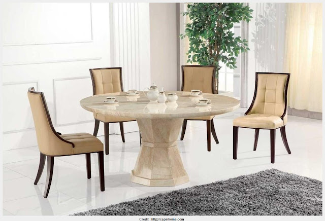 Top Photo of Marble Round Dining Table Wall Picture