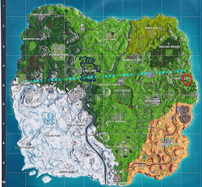 Dance Locations, Water Tower, Fortnite,  Lonely Lodge