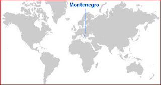 Gambar Peta letak Montenegro