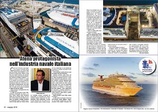 MAGGIO 2018 PAG 18 - Atena protagonista nell'industria navale italiana