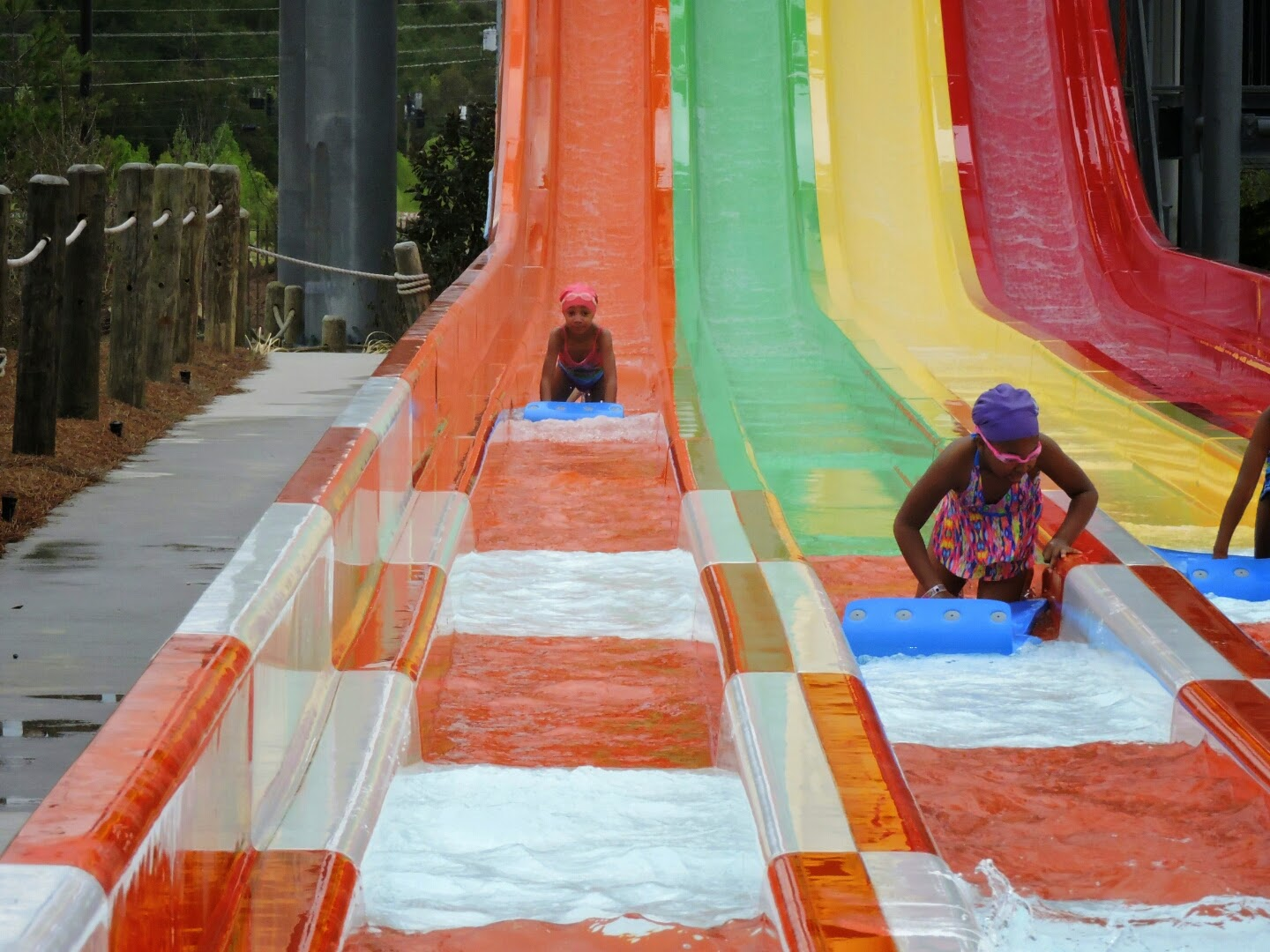 Spring Break at the Smoky Mountains Tennessee  (Wilderness at the Smokies outdoor pool)  via www.productreviewmom.com