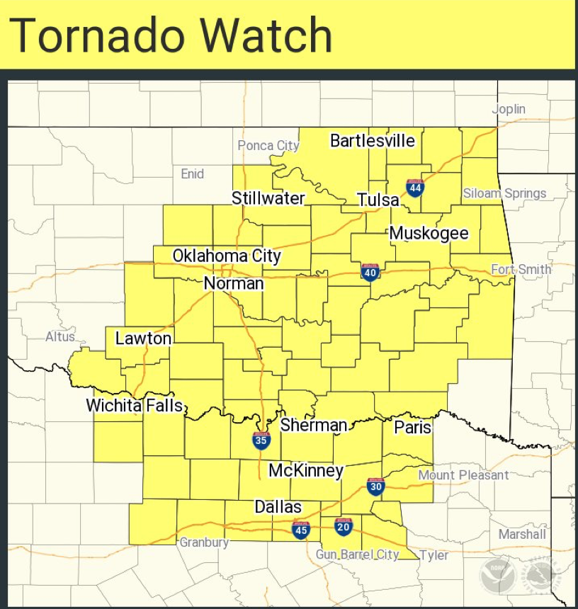 Map Of North Texas And Oklahoma.Mse Creative Consulting Blog Tornado Watch Oklahoma And Texas