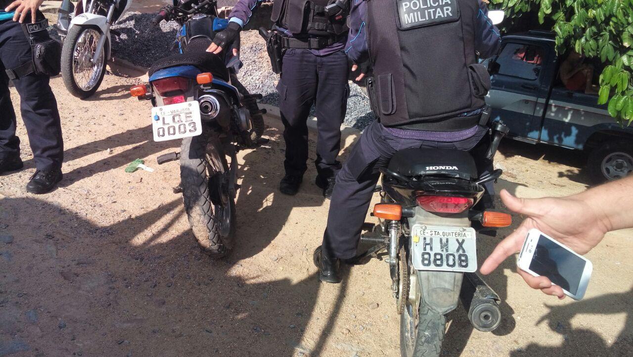 apreende motos roubadas