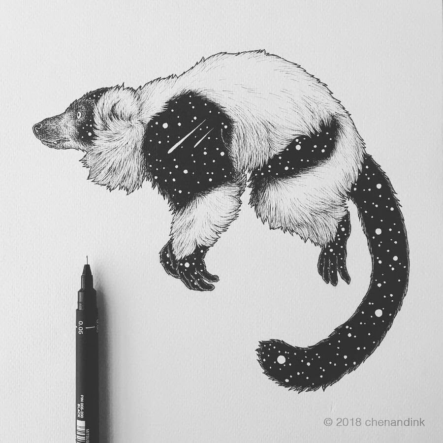 10-Lemur-Astral-Animals-Chen-Naje-www-designstack-co