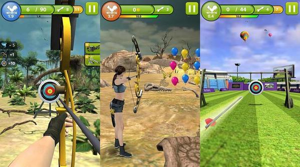 Jogo de tiro ao alvo com arco e flecha para Android