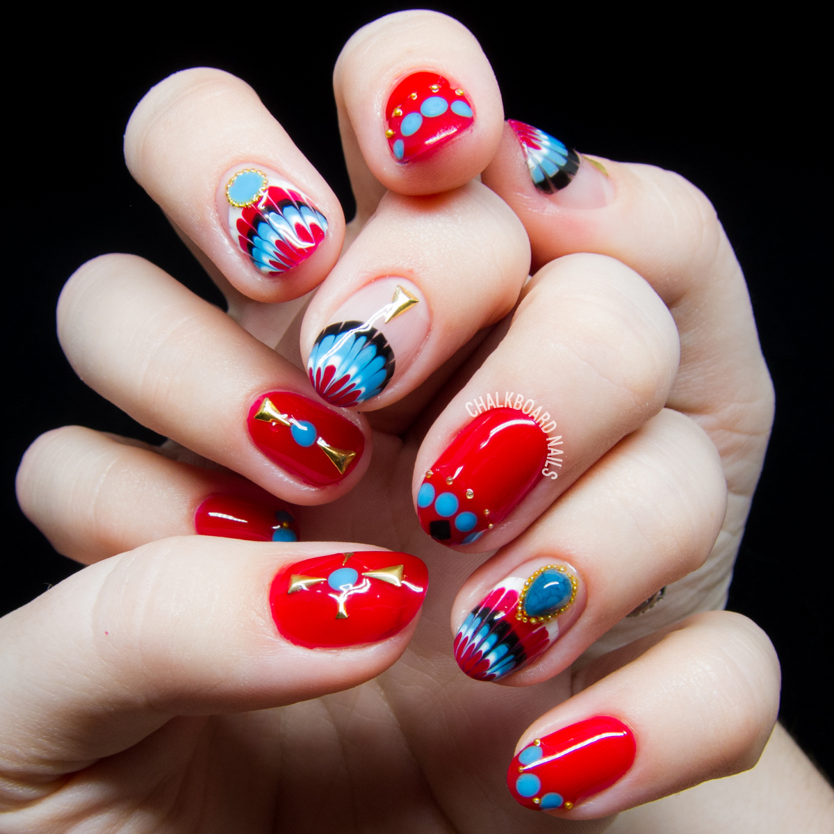Easy Red White And Blue Nail Art Nailarts Ideas