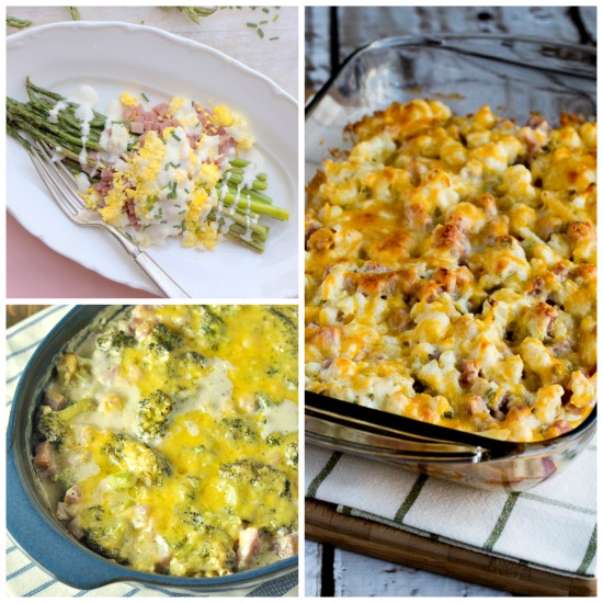 The BEST Low-Carb Recipes Using Leftover Ham featured for Low-Carb Recipe Love on KalynsKitchen.com