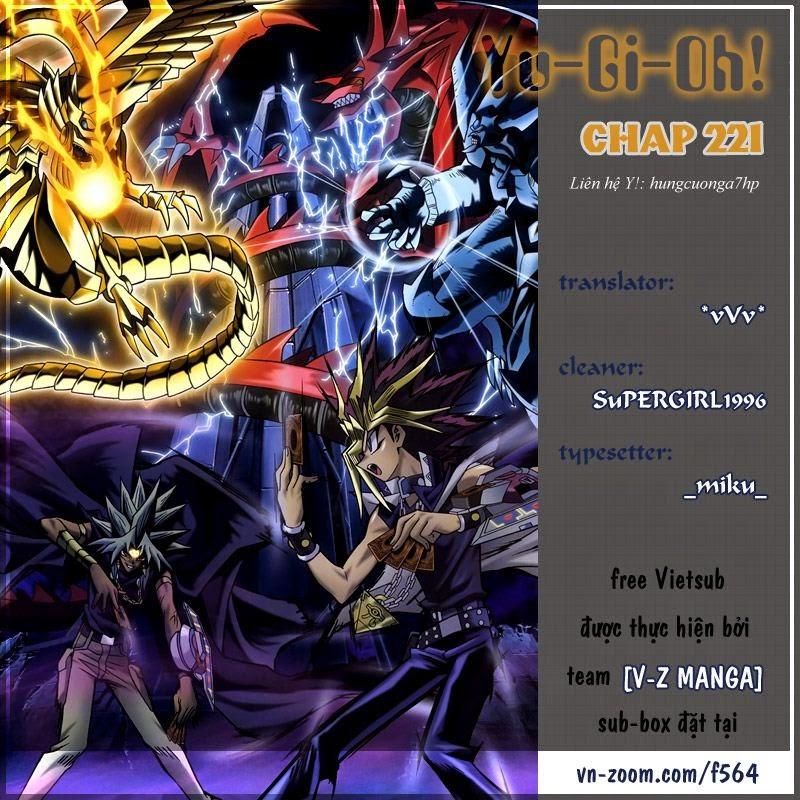 YUGI-OH! chap 221 - vị thần giáng thế trang 1