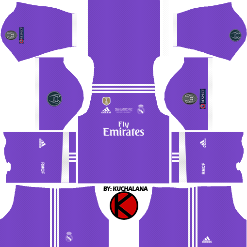 Real Madrid Kits UCL 2016/17 Final - Dream League Soccer