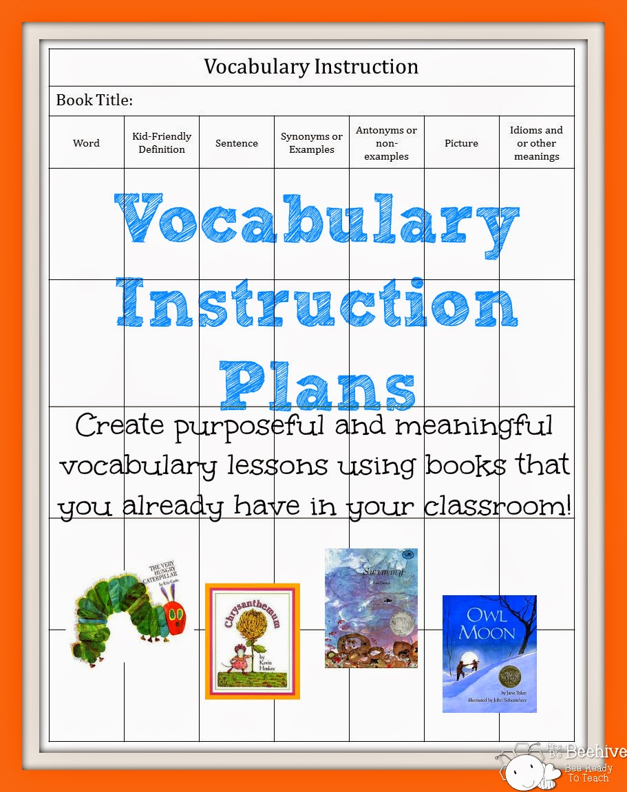 Vocabulary Instructin Plan - Mrs. B's Beehive