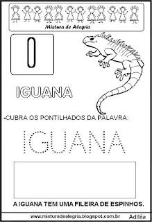 Bichonário desenho de iguana