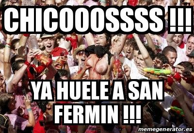 ya huele a San Fermín 2018
