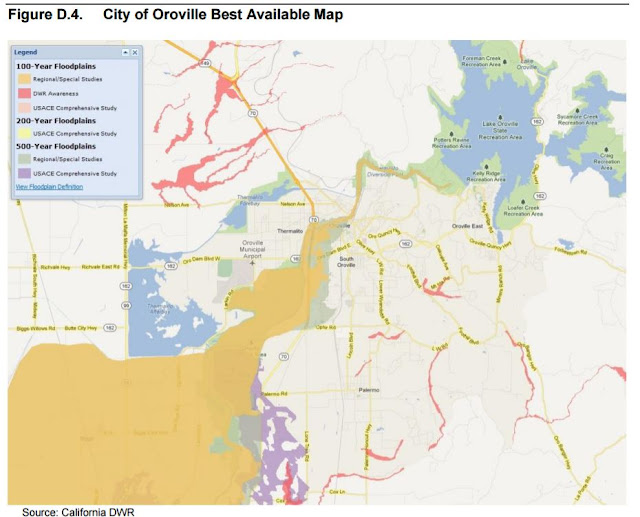 Butte County Oroville Dam Flood Plan