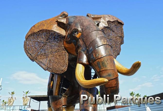 Elefante plaza exterior Bioparc