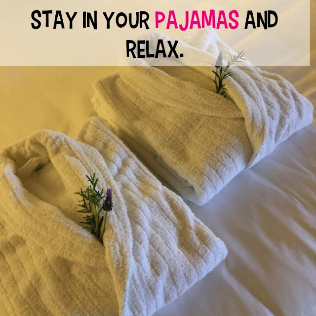 Sometimes, it's ok to stay in your pajamas all Sunday.  Or be like me and the minute you walk in the door, you throw on your jammies.
