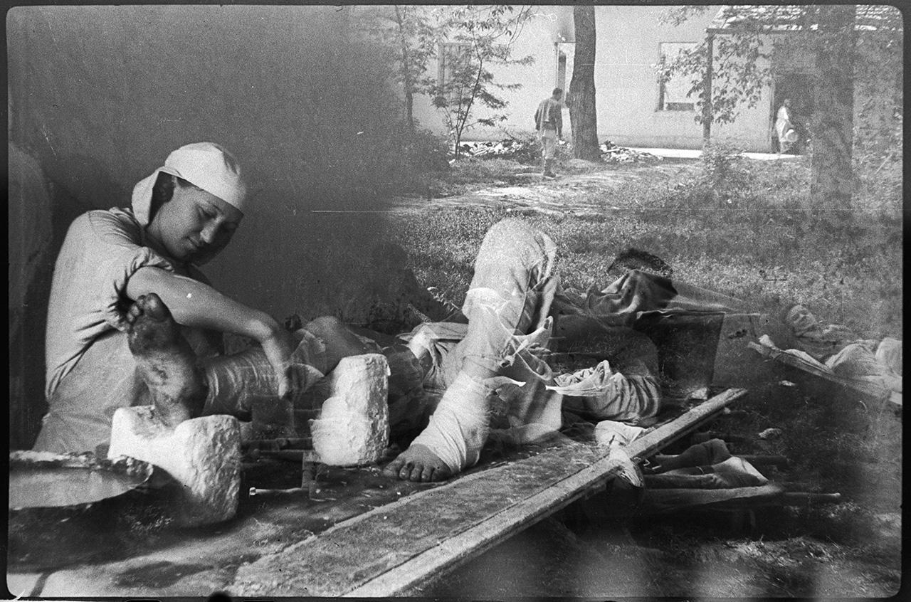Полевой госпиталь в Крыму, 1944 год