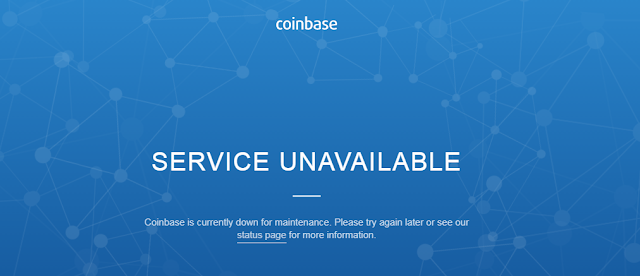 Coinbase, Digital Currency Exchange Company, Is Down!