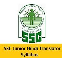 SSC Junior Hindi Translator Syllabus