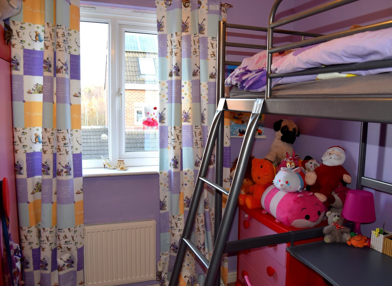 Roald Dahl Curtain Collection: Roald Dahl Witches Patchwork Curtains Review.
