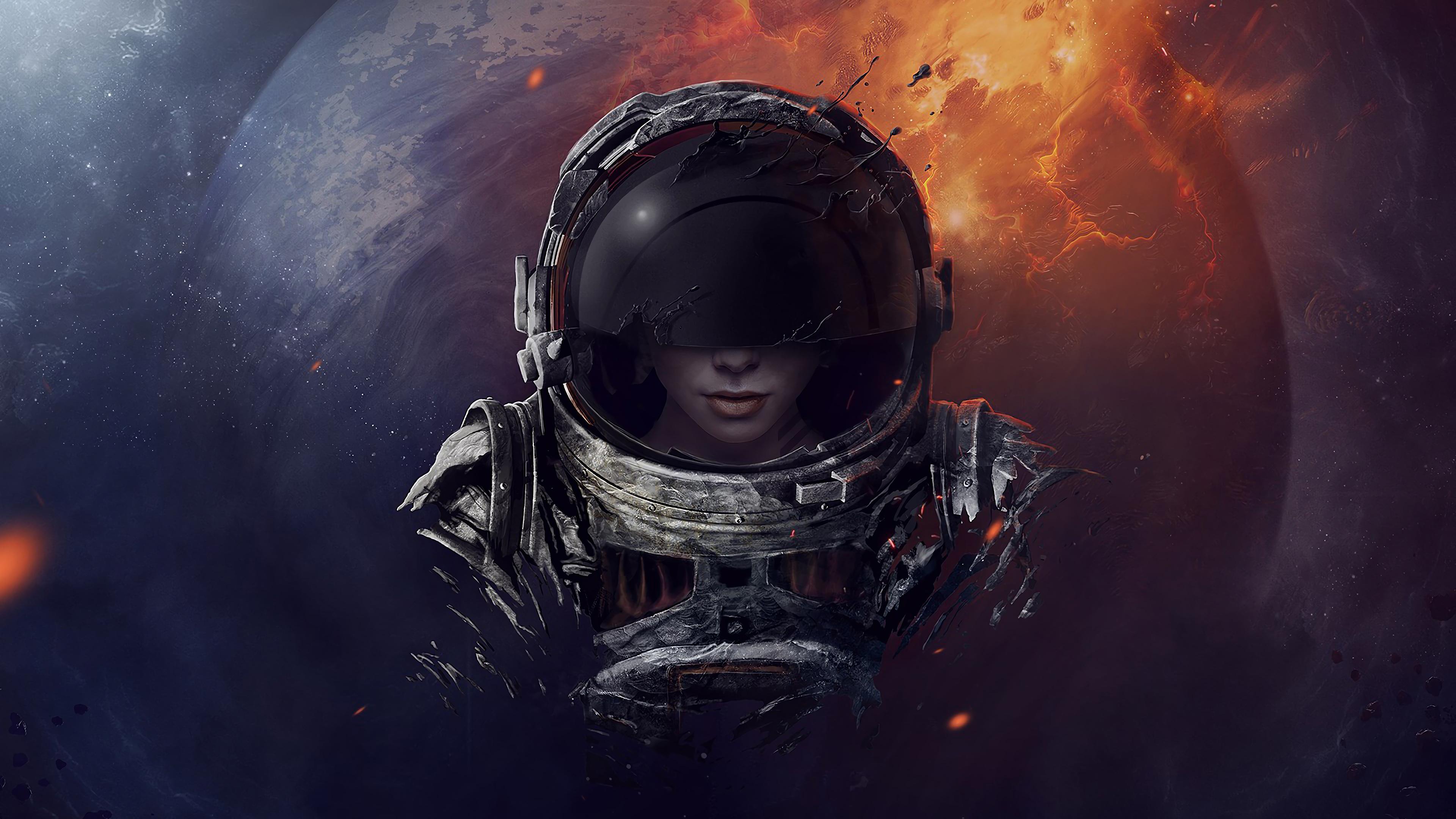 Sci Fi Astronaut Digital Art 4k Wallpaper 156