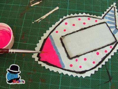 personalizzare oggetti di stoffa, come il mio pesciolino