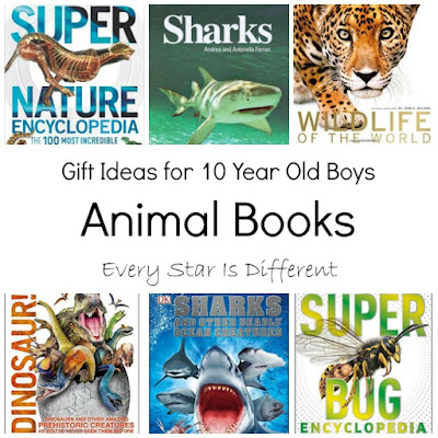 Animal book gift ideas for 10 year old boys.