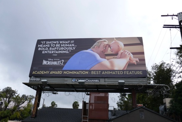 Incredibles 2 Oscar nominee billboard