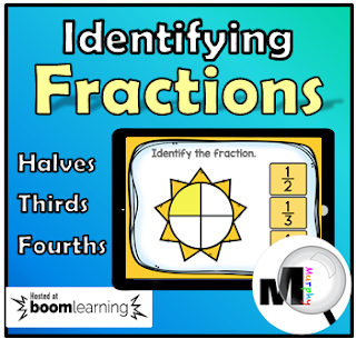 https://www.teacherspayteachers.com/Product/BOOM-CARDS-Identifying-Fractions-Halves-Thirds-Fourths-3698340