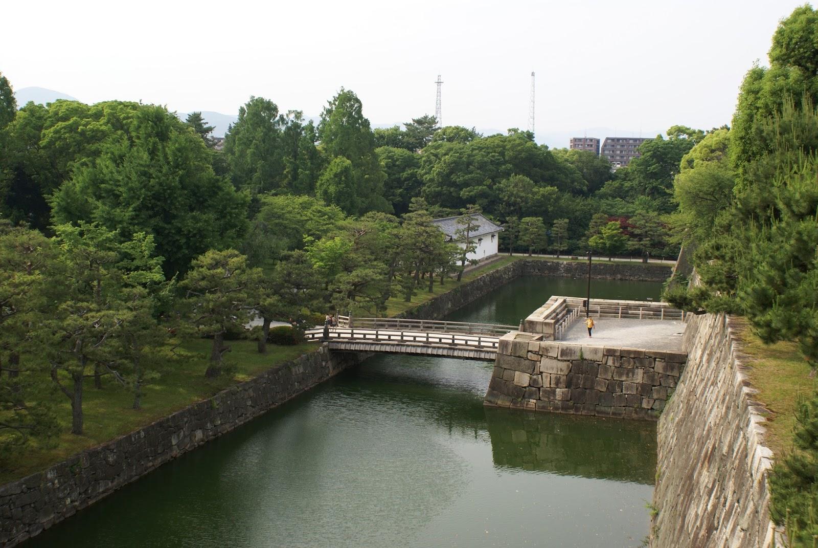 donjon nijo-jo castle kyoto japan asia