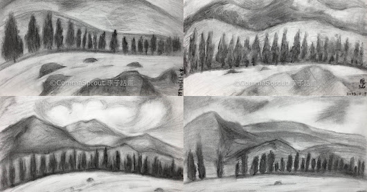 Students' Art Work - #Charcoal #Landscape 學生作品- #炭筆 #風景 (by CommaSprout 李子話畫)
